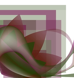 Colorful abstract flower with waves vector image