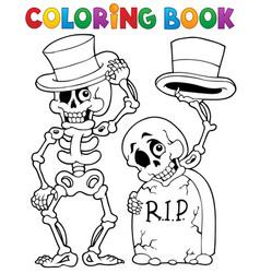 Coloring book halloween character 6 vector