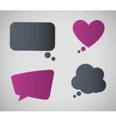 communication design bubble icon conversation vector image