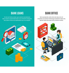 Credit vertical banners set vector