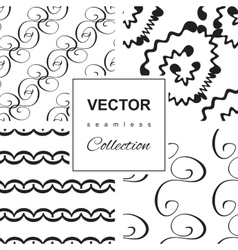 Curly or Swirly hand drawn background vector image