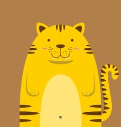 cute big fat tiger vector image