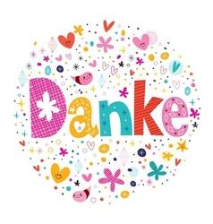 Danke - Thanks in German vector