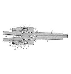 Drill chuck vintage vector