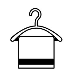 Drying hook with towel laundry icon vector