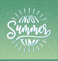 enjoy summer time vector image