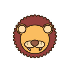 face lion cartoon animal vector image