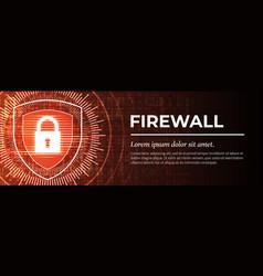 Firewall handsome red digital background vector