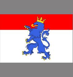 Flag of vendome in loir-et-cher of centre-val de vector