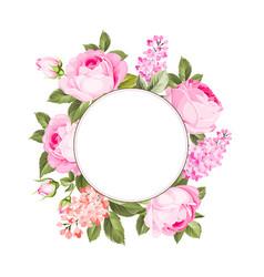 flower garland vector image