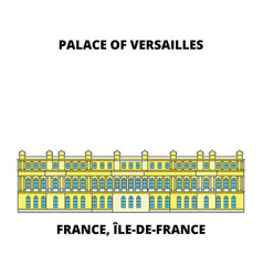France ile-de-france - palace and park of vector