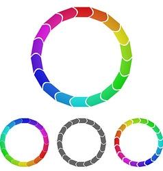 Geometric Circular Logo Set vector