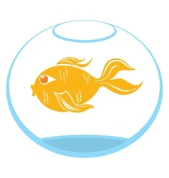 Goldfish symbol vector image vector image