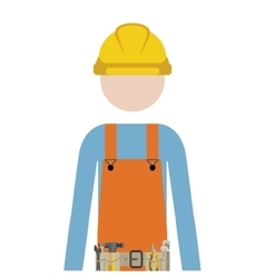 Half body man worker with toolkit vector