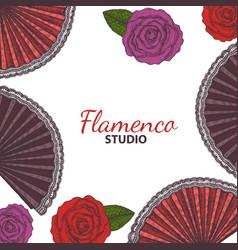 Hand drawn flamenco template vector