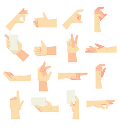 Hands gestures pointing hand gesture women hands vector