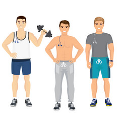 handsome young guys in vector image