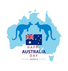 happy australia day concept vector image