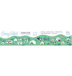 horizontal banner camping festival flat vector image