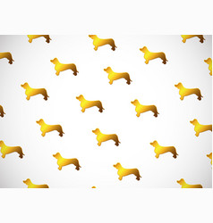 Horizontal card pattern with cute cartoon gold vector