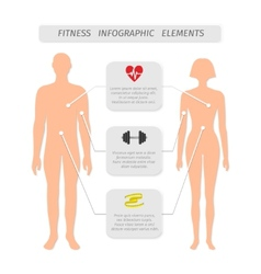 Infographic elements for fitness sports vector