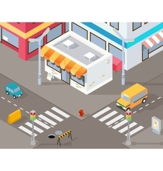 Isometric street or 3d road vector image