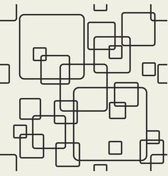 Line squares shapes decorative vector