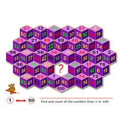 Logic puzzle game for smartest find and count all vector