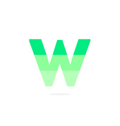 logo letter w green energy battery vector image