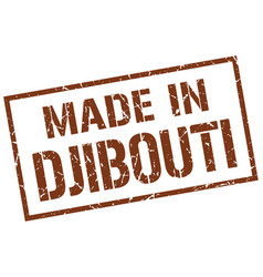 made in djibouti stamp vector image