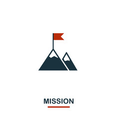 mission icon premium style design from teamwork vector image