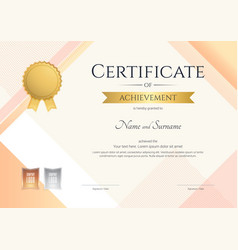 modern certificate of achievement template with vector image