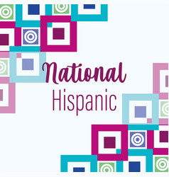 National hispanic heritage month celebrate annual vector