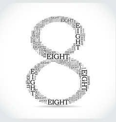 Number eight created from text vector