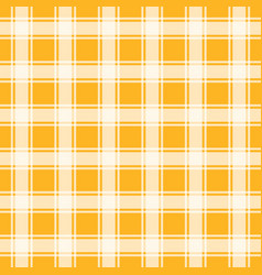 Orange seamless background gingham pattern vector
