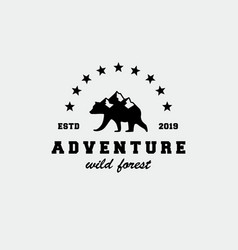 outdoor adventure logo design inspiration vector image