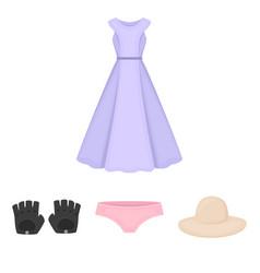 panties gloves dress hat clothing set vector image vector image