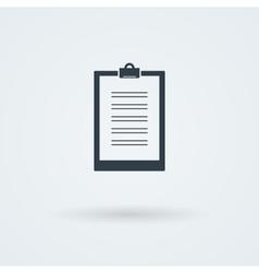 Paper board icon vector image