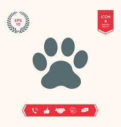 Paw icon symbol vector
