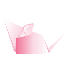pink origami mouse vector image