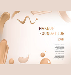 Poster with texture of smears of liquid foundation vector