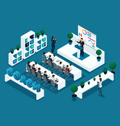qualitative isometry coaching concept business vector image