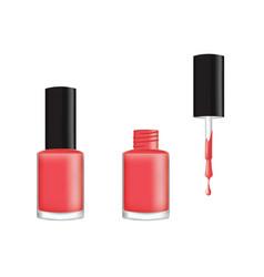 realistic nail polish vector image