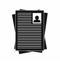 Resumes icon in simple style vector
