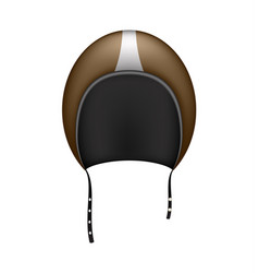 Retro motorcycle helmet in dark brown design vector