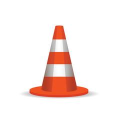 Road cones sign vector