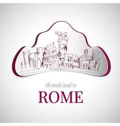 Rome city emblem vector image
