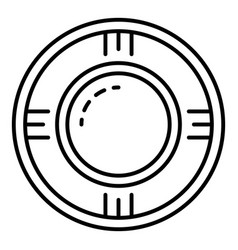 round pool icon outline style vector image