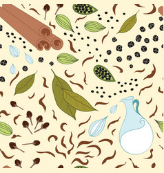 seamless pattern with different kind of vector image