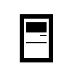 service terminal vector image